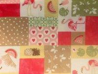 Bienenwachstuch - Flamingo/Melone
